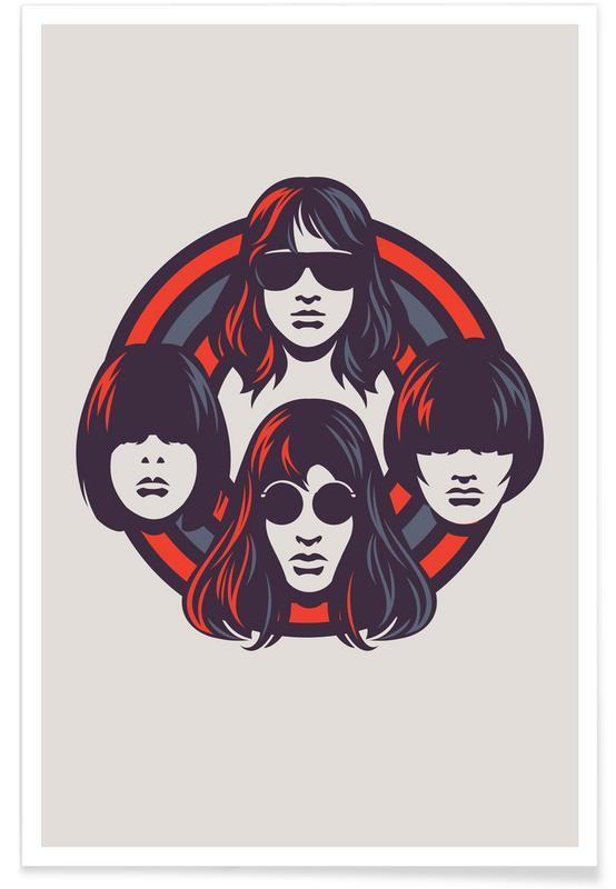 Rock, The Ramones Minimalist Poster
