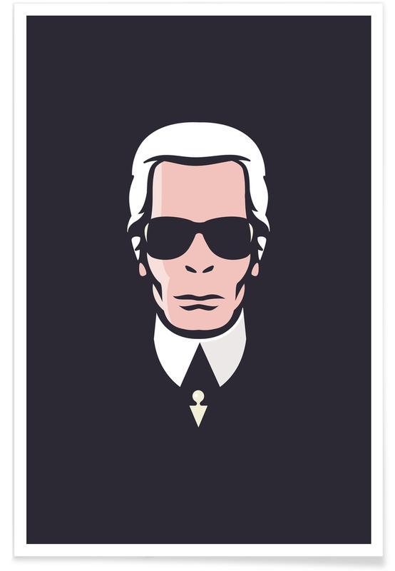 , Lagerfeld -Poster