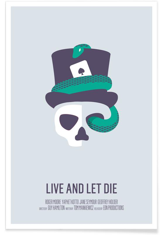 Movies, Skulls, Live And Let Die Poster