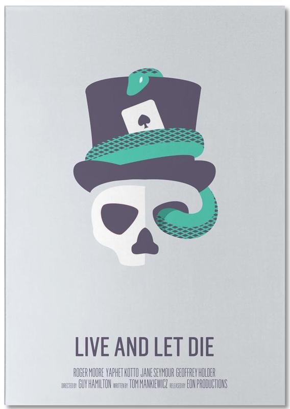 Filme, Totenköpfe, Live And Let Die -Notizblock