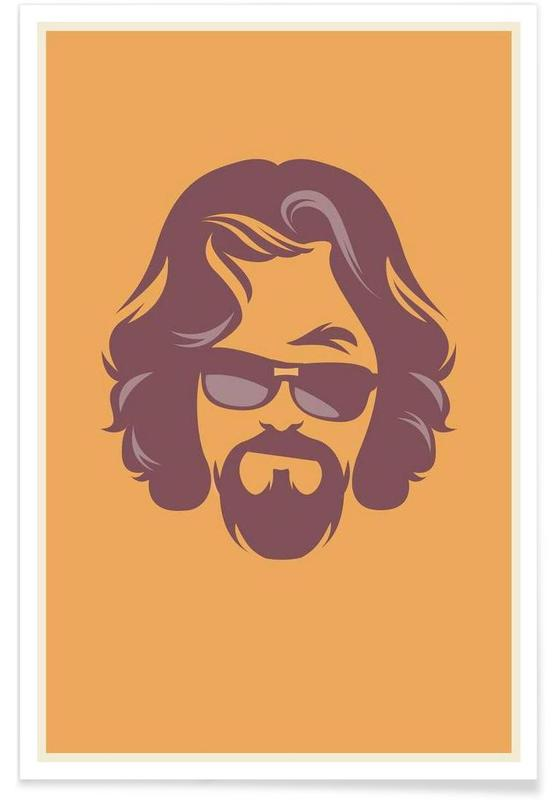 The Dude Minimalist Poster