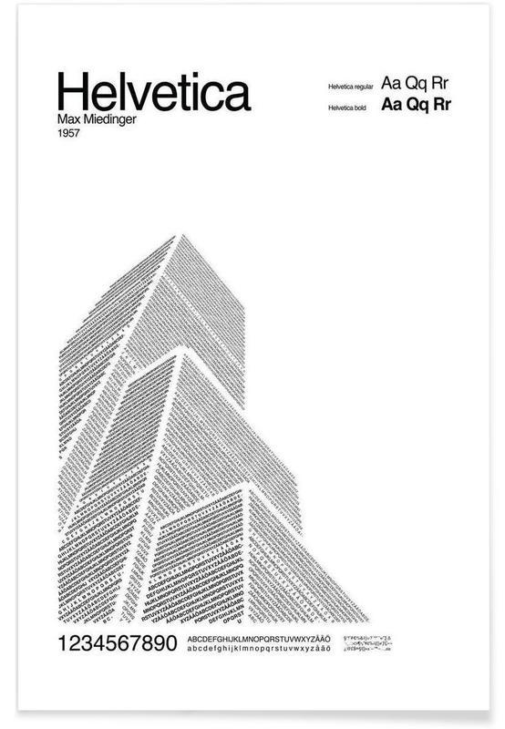Noir & blanc, Helvetica affiche