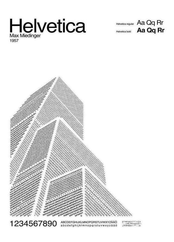 Helvetica -Leinwandbild