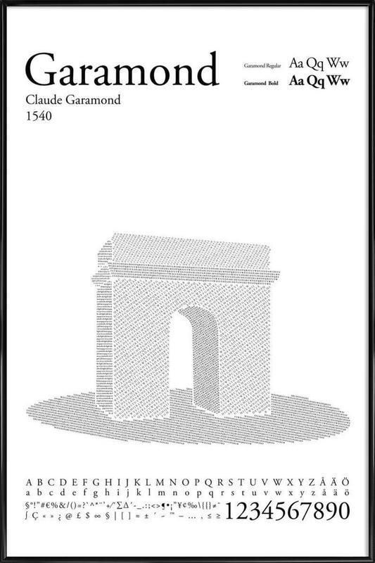 Garamond Framed Poster