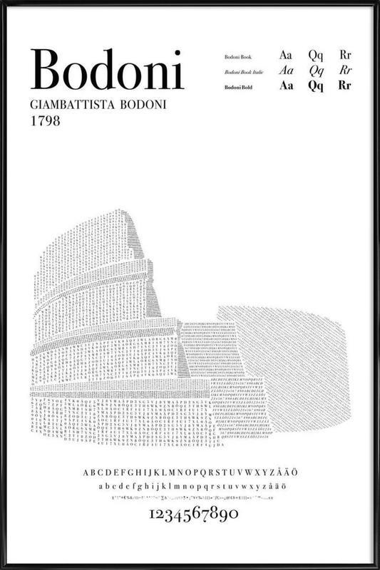 Bodoni Framed Poster