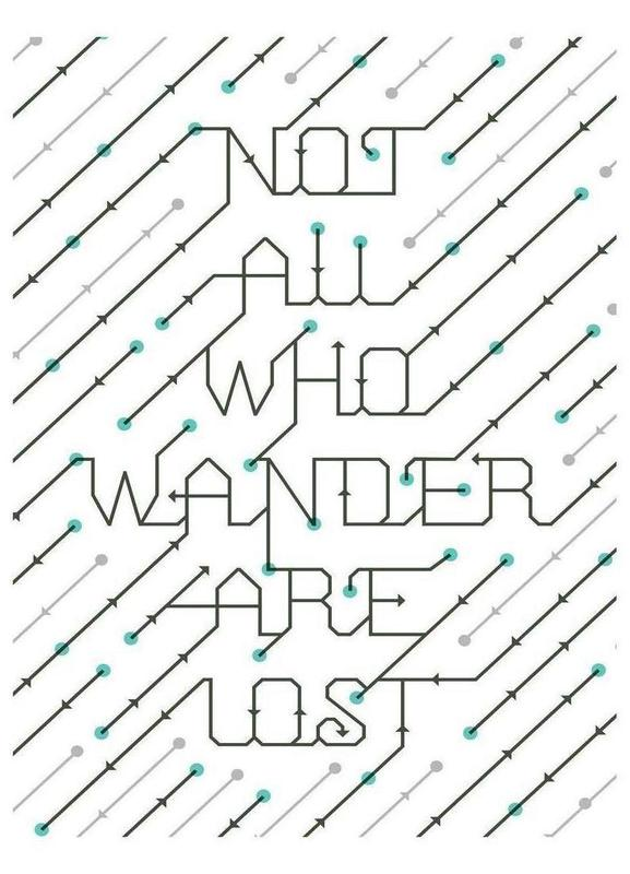Not All Who Wander -Leinwandbild