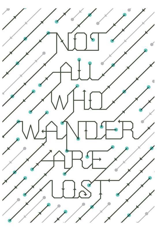 Not All Who Wander Aluminium Print