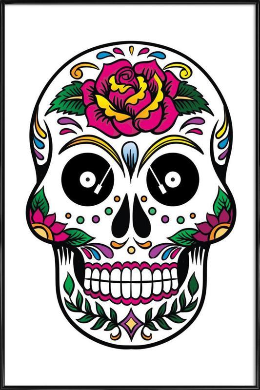 Skull ingelijste poster