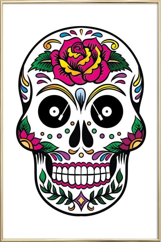 Skull poster in aluminium lijst