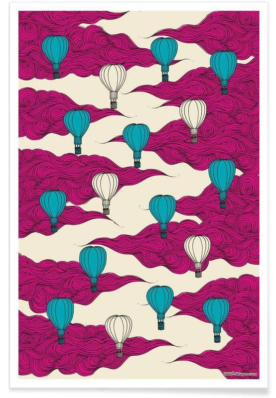Art pour enfants, Wrapping Paper Balloons affiche