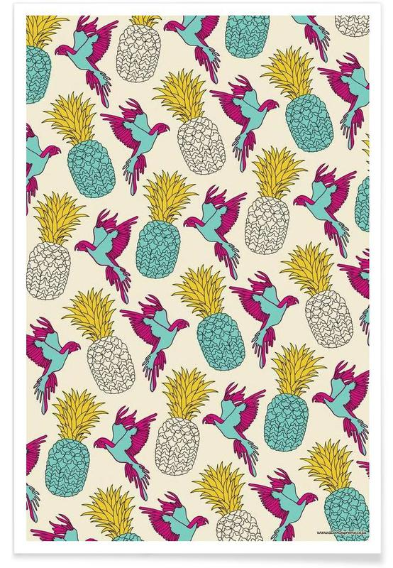 Wrapping Paper Pineapple affiche
