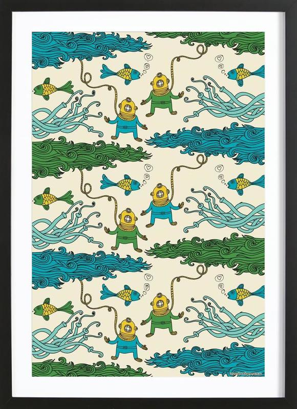 Wrapping Paper Submerged Framed Print