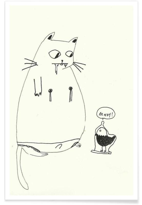Chats, Humour, Ready affiche