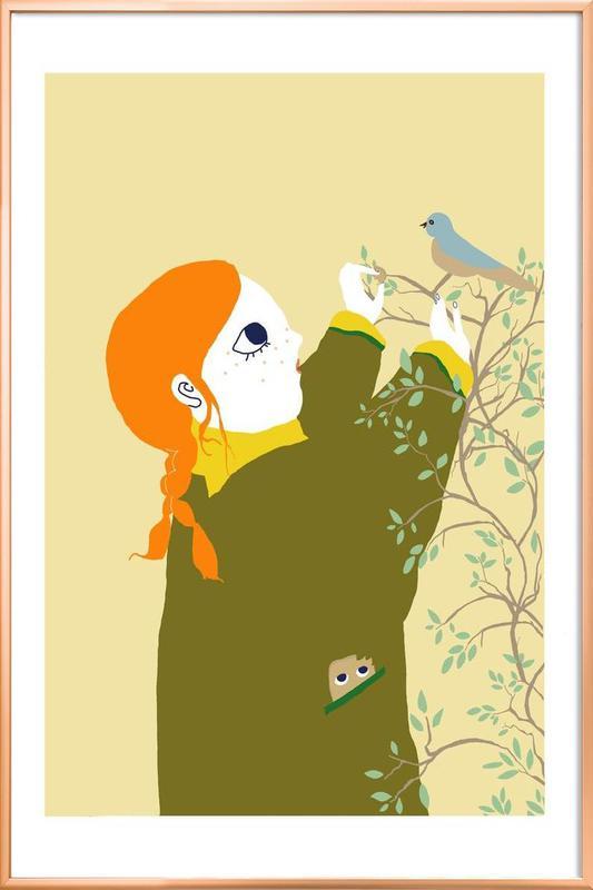 Bird II -Poster im Alurahmen