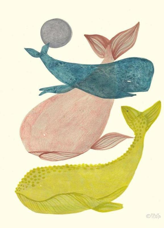 It´s Raining Whales II Canvas Print