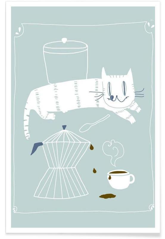 Katzen, Kaffee, Nice Day -Poster