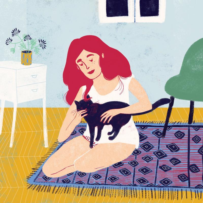 Room With A Cat Impression sur alu-Dibond