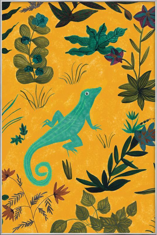 Lizard -Poster im Alurahmen