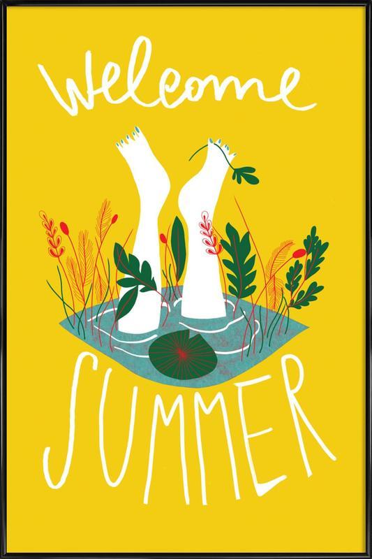Welcome Summer Framed Poster