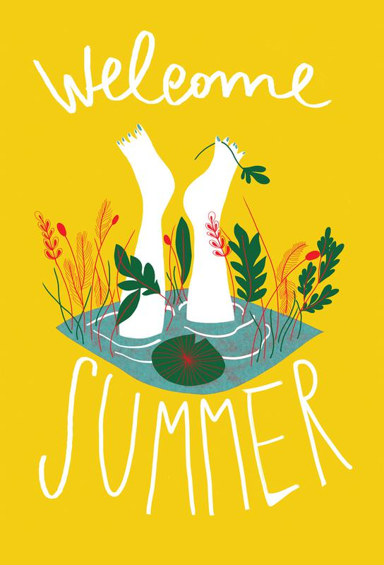 Welcome Summer Aluminium Print