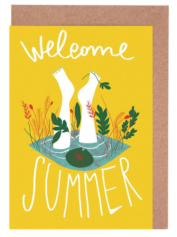 Welcome Summer Greeting Card Set