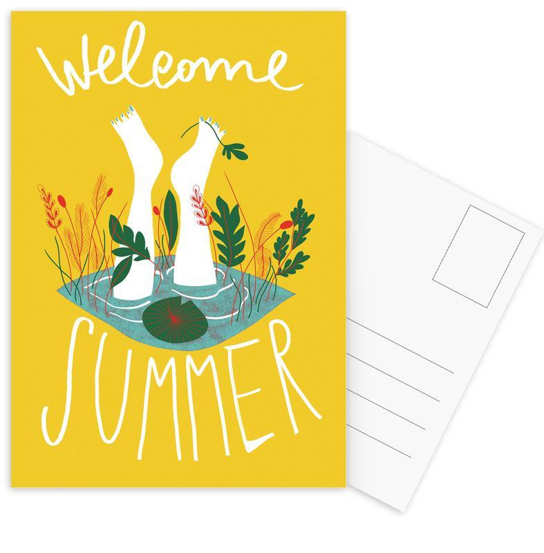 Welcome Summer -Postkartenset