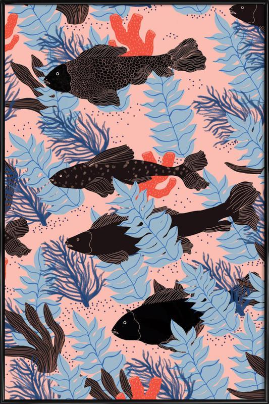 Fishes ingelijste poster