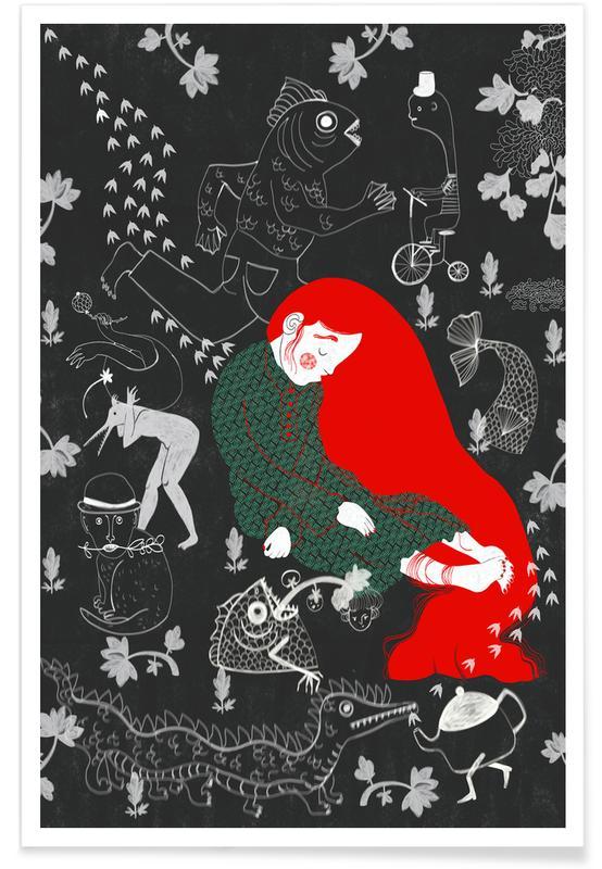 Art pour enfants, Rêve, Asleep affiche