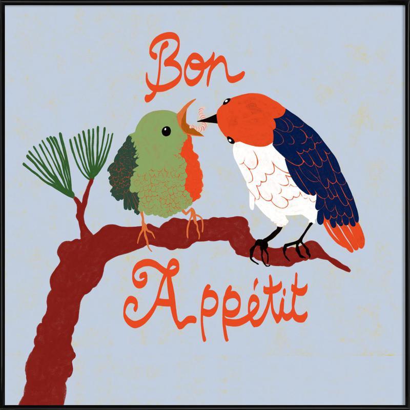 Bon Appétit -Bild mit Kunststoffrahmen
