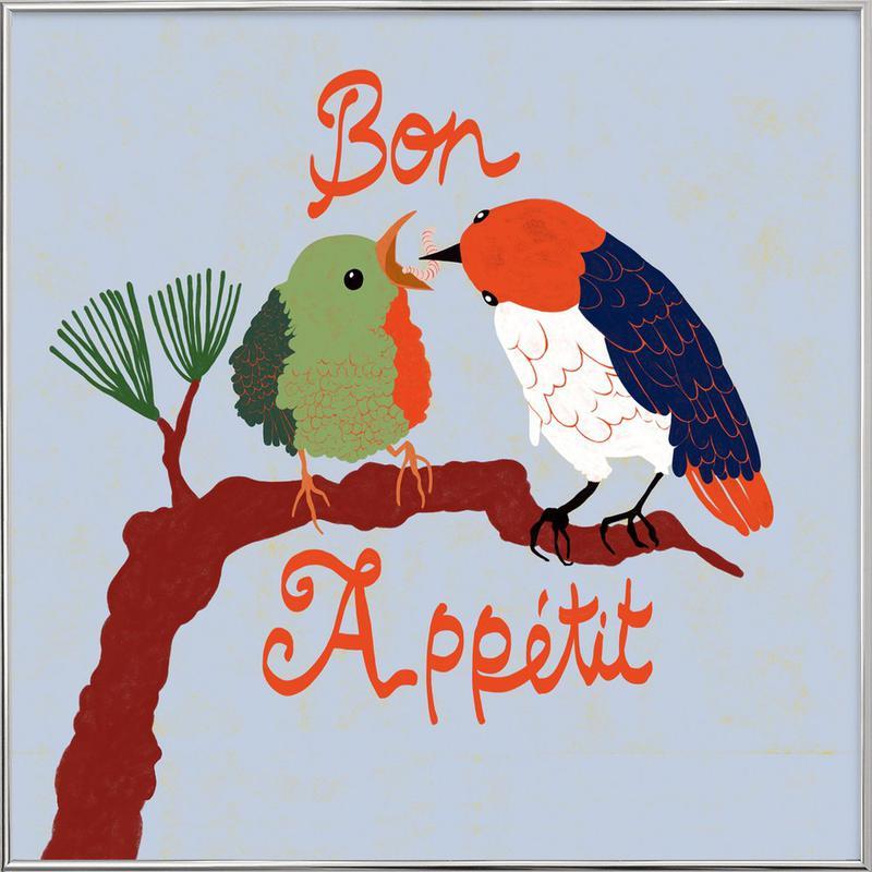 Bon Appétit poster in aluminium lijst