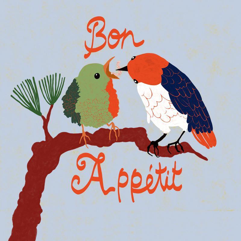 Bon Appétit canvas doek