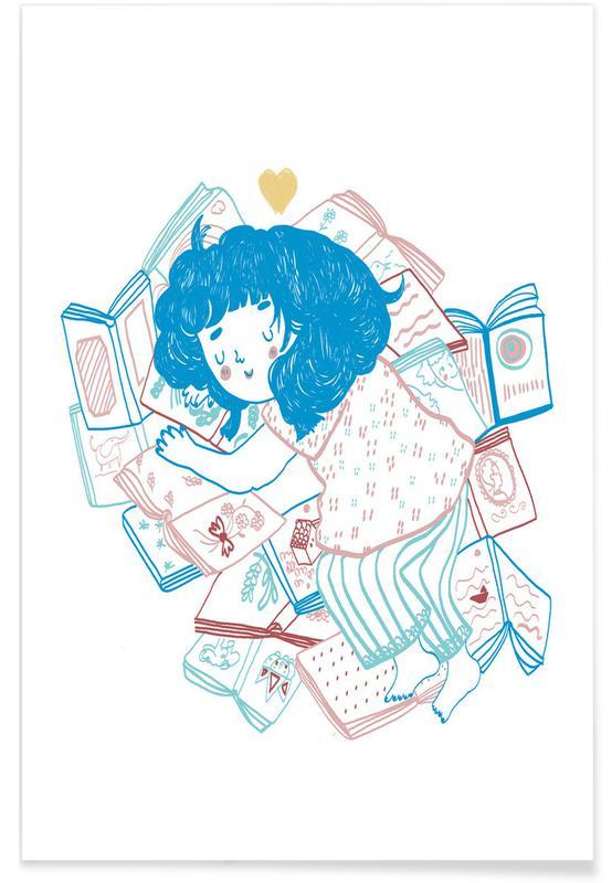 Nursery & Art for Kids, Books Lover Poster