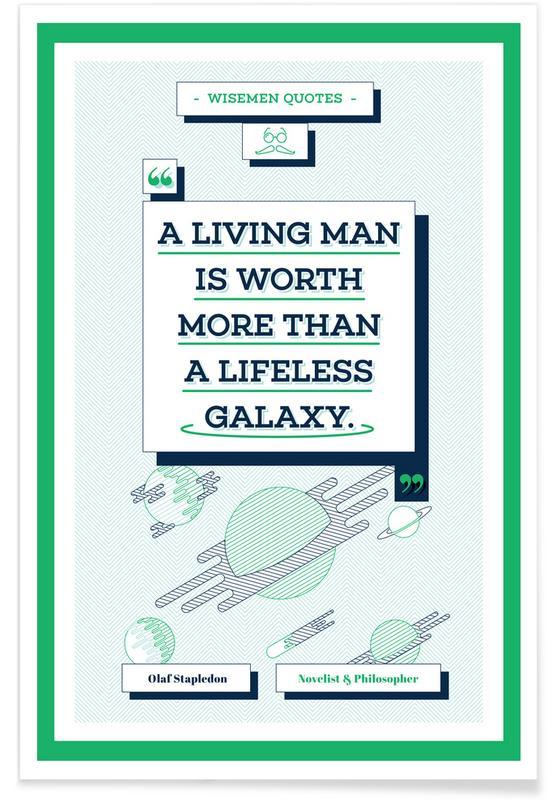 Zitate & Slogans, Olaf Stapledon -Poster