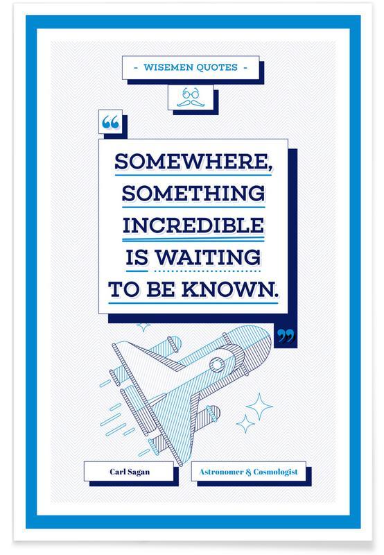 Zitate & Slogans, Raumschiffe & Raketen, Carl Sagan -Poster