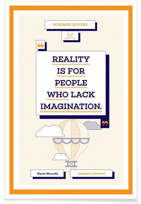 Motivation, Zitate & Slogans, Hayao Miyazaki -Poster