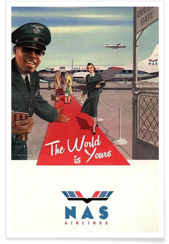 Retro, Travel, The World Is Yours Poster