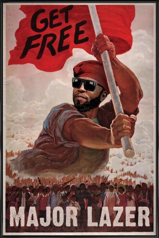 Get Free ingelijste poster