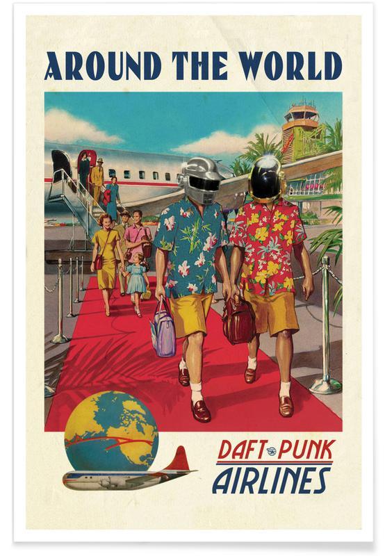 Around the World Daft Punk Poster
