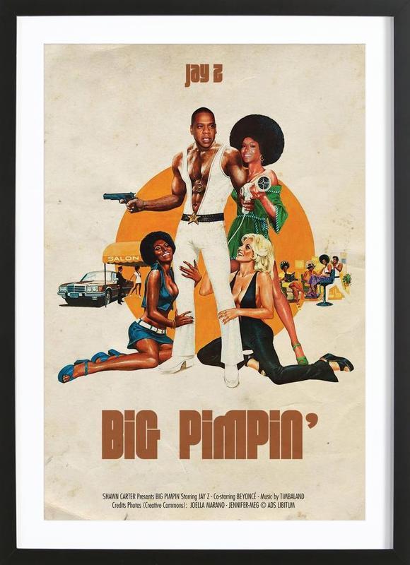 Big Pimpin -Bild mit Holzrahmen