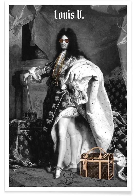 Humour, Personnages politiques, Louis V affiche