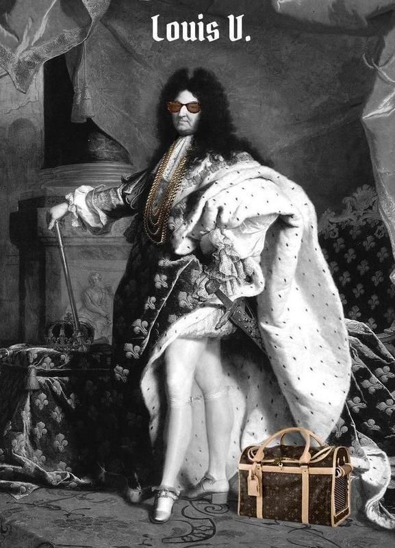 Louis V -Leinwandbild