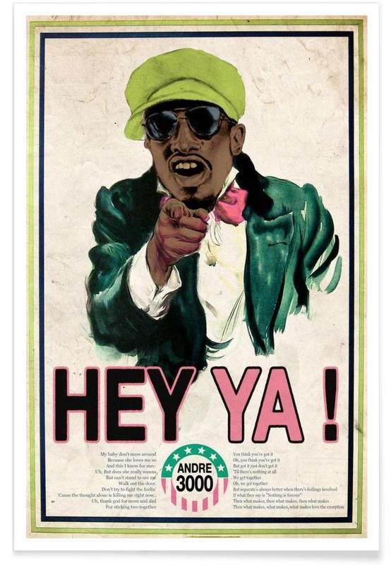 Pop Art, Retro, Lustig, Hey Ya! #2 -Poster