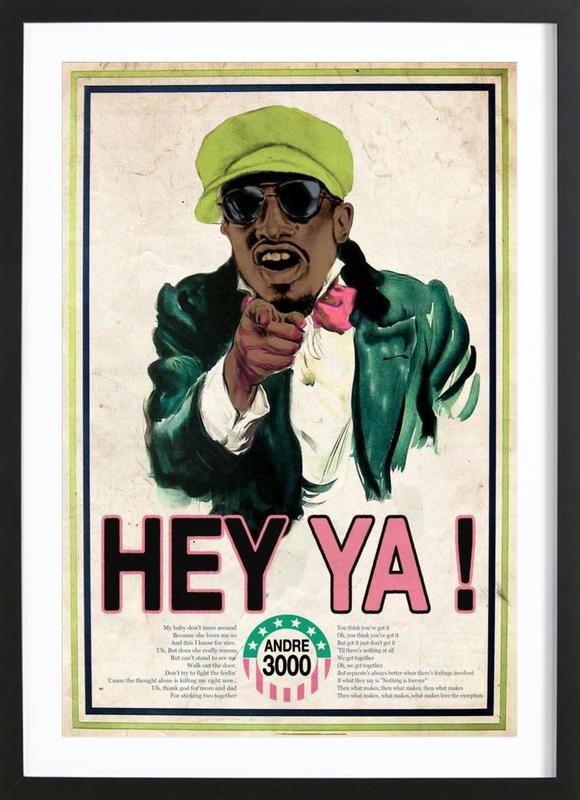 Hey Ya! #2 affiche sous cadre en bois