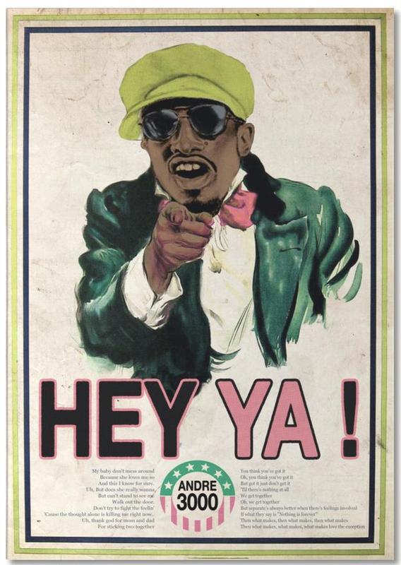 Pop Art, Rétro, Humour, Hey Ya! #2 bloc-notes