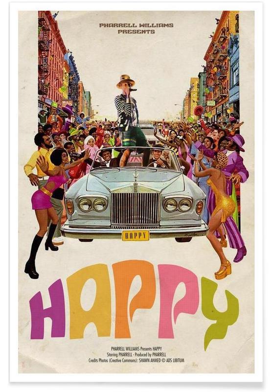 Rétro, Pop Art, Happy #2 affiche