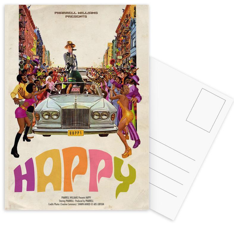 Popart, Retro, Happy #2 ansichtkaartenset