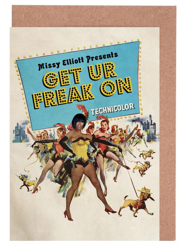Vintage, Hip-Hop & Rap, Pop Art, Get Ur Freak On cartes de vœux