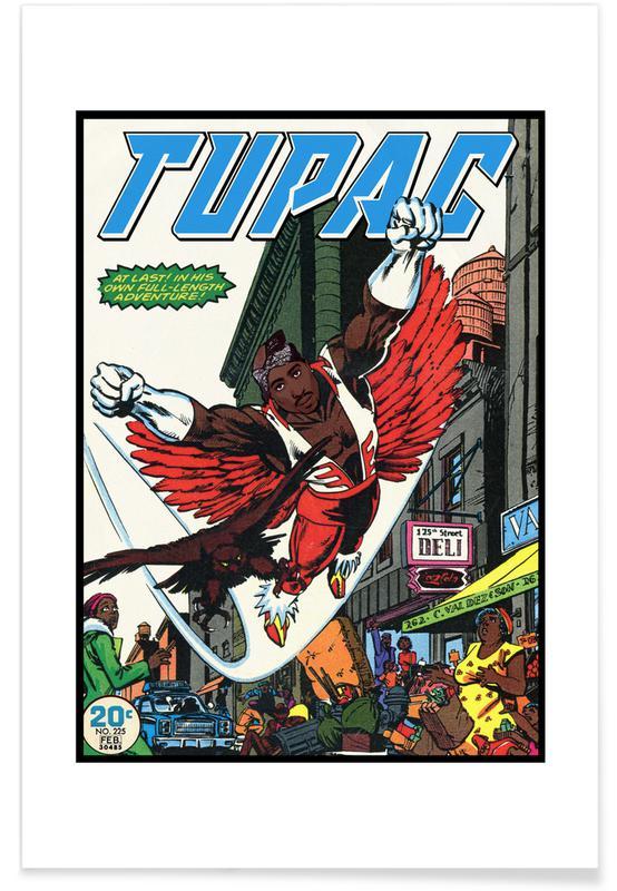 Tupac, Pop art, Hip Hop & Rap, Vintage, 2Pac Plakat