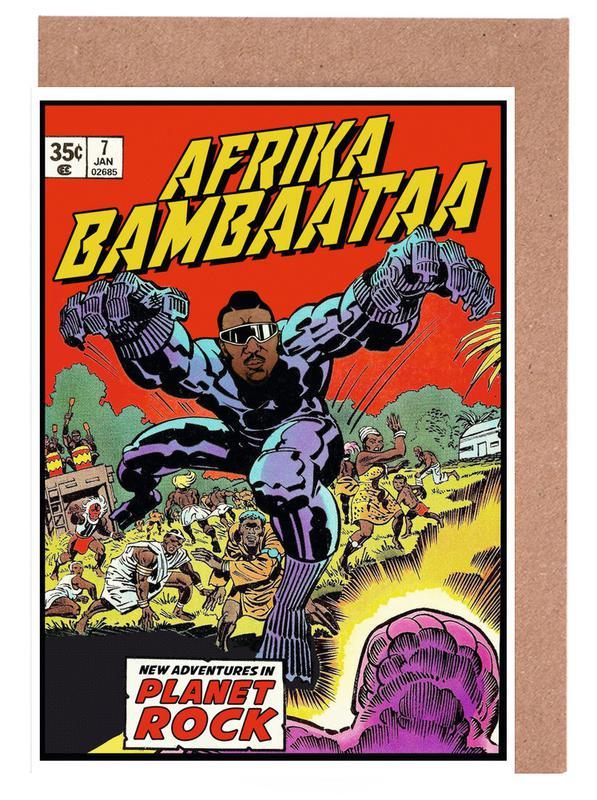 Afrika Bambaataa -Grußkarten-Set