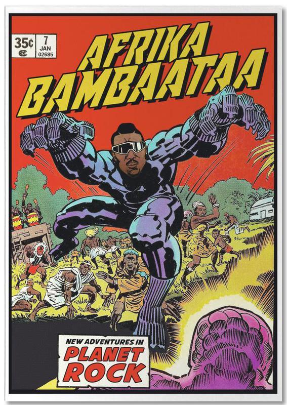 Vintage, Pop Art, Hip-Hop & Rap, Afrika Bambaataa bloc-notes